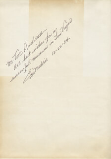 GUY MADISON - INSCRIBED SCRIPT SIGNED 12/22/1984