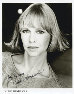 LAURIE HENDRICKS - AUTOGRAPHED SIGNED PHOTOGRAPH
