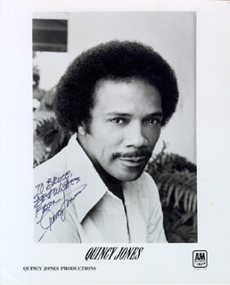 QUINCY JONES - AUTOGRAPHED INSCRIBED PHOTOGRAPH