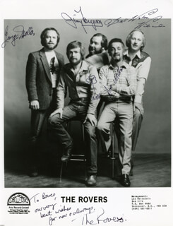 THE ROVERS (THE IRISH ROVERS) - AUTOGRAPHED INSCRIBED PHOTOGRAPH CO-SIGNED BY: GEORGE MILLAR, WILL MILLAR, JIMMY FERGUSON, JOE MILLAR, WILCIL MCDOWELL