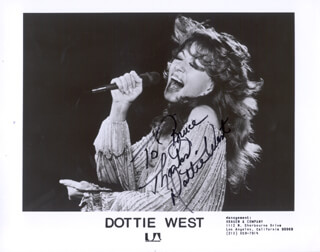 DOTTIE WEST - AUTOGRAPHED INSCRIBED PHOTOGRAPH