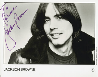 JACKSON BROWNE - AUTOGRAPHED INSCRIBED PHOTOGRAPH