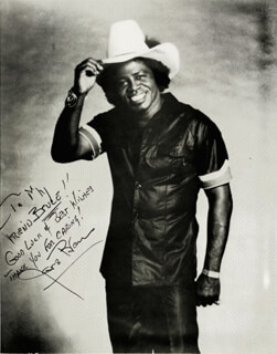 JAMES GODFATHER OF SOUL BROWN - AUTOGRAPHED INSCRIBED PHOTOGRAPH