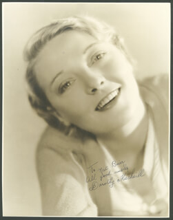 DOROTHY MACKAILL - AUTOGRAPHED SIGNED PHOTOGRAPH
