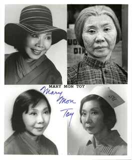 MARY MON TOY - AUTOGRAPHED SIGNED PHOTOGRAPH