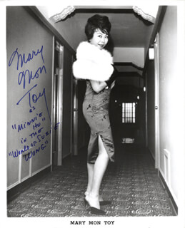 MARY MON TOY - AUTOGRAPHED INSCRIBED PHOTOGRAPH