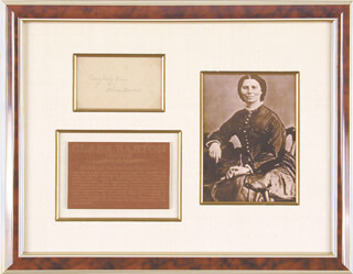 CLARA BARTON - POST CARD SIGNED