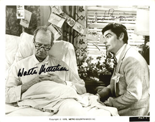 THE SUNSHINE BOYS MOVIE CAST - AUTOGRAPHED SIGNED PHOTOGRAPH CIRCA 1976 CO-SIGNED BY: WALTER MATTHAU, RICHARD BENJAMIN