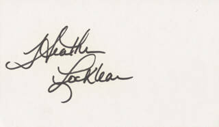 HEATHER LOCKLEAR - AUTOGRAPH