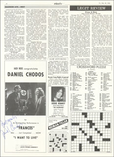 DANIEL CHODOS - MAGAZINE PAGE SIGNED