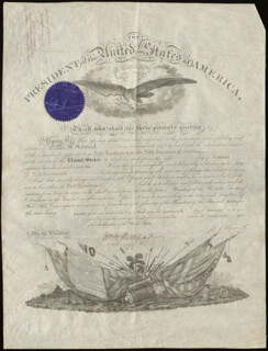 PRESIDENT ULYSSES S. GRANT - MILITARY APPOINTMENT SIGNED 01/17/1872 CO-SIGNED BY: MAJOR GENERAL WILLIAM W. BELKNAP, BRIGADIER GENERAL EDWARD DAVIS TOWNSEND