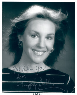 TIFFANY BOLLING - AUTOGRAPHED SIGNED PHOTOGRAPH 1984