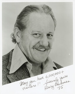 HENRY BECKMAN - AUTOGRAPHED SIGNED PHOTOGRAPH 1985