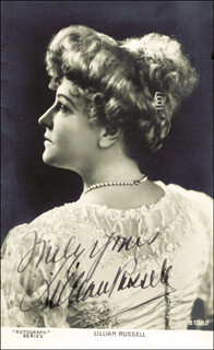 LILLIAN RUSSELL - PICTURE POST CARD SIGNED
