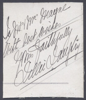 LILLIE AMERICAN LILY LANGTRY - INSCRIBED SIGNATURE