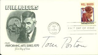 TOM POSTON - FIRST DAY COVER SIGNED