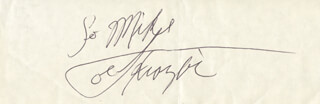 JOE SMOKIN JOE FRAZIER - INSCRIBED SIGNATURE