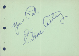 GENE AUTRY - AUTOGRAPH SENTIMENT SIGNED
