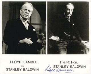 LLOYD LAMBLE - PRINTED PHOTOGRAPH SIGNED IN INK