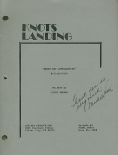 MICHELE LEE - SCRIPT SIGNED