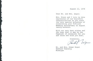 PRESIDENT RICHARD M. NIXON - TYPED LETTER SIGNED 08/21/1978