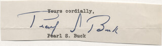 Autographs: PEARL S. BUCK - CLIPPED SIGNATURE