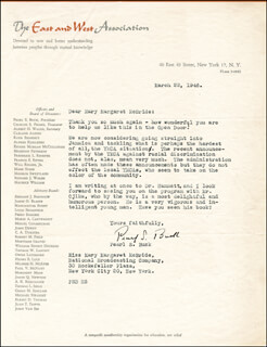 PEARL S. BUCK - TYPED LETTER SIGNED 03/22/1946