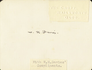 W.H. (WILLIAM HENRY) DAVIES - AUTOGRAPH