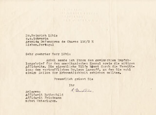 Autographs: ALBERT EINSTEIN - TYPED LETTER SIGNED