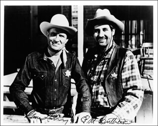 GENE AUTRY - AUTOGRAPHED SIGNED PHOTOGRAPH CO-SIGNED BY: PAT BUTTRAM