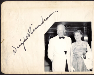 Autographs: PRESIDENT DWIGHT D. EISENHOWER - SIGNATURE(S) CO-SIGNED BY: LESLIE (HUBERT LESLIE) WOODGATE