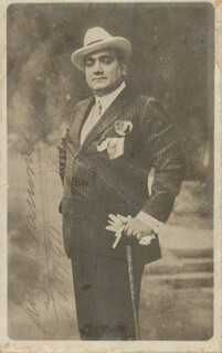 ENRICO CARUSO - PICTURE POST CARD SIGNED 11/07/1911