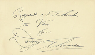 DANNY THOMAS - AUTOGRAPH NOTE SIGNED 05/03/1949