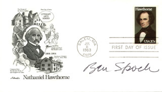 BENJAMIN M. SPOCK - FIRST DAY COVER SIGNED