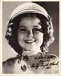 SHIRLEY TEMPLE - AUTOGRAPHED INSCRIBED PHOTOGRAPH 1985