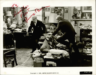 THE SUNSHINE BOYS MOVIE CAST - AUTOGRAPHED INSCRIBED PHOTOGRAPH CO-SIGNED BY: WALTER MATTHAU, GEORGE BURNS