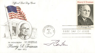 PRESIDENT JAMES E. JIMMY CARTER - FIRST DAY COVER SIGNED