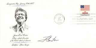 PRESIDENT JAMES E. JIMMY CARTER - INAUGURATION DAY COVER SIGNED
