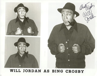 WILL JORDAN - AUTOGRAPHED SIGNED PHOTOGRAPH