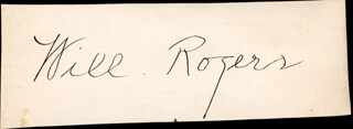 WILL ROGERS SR. - AUTOGRAPH