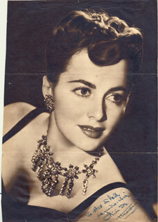 OLIVIA DE HAVILLAND - INSCRIBED MAGAZINE PHOTO SIGNED