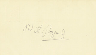 WILL ROGERS JR. - POST CARD SIGNED CIRCA 1956