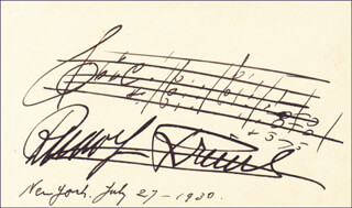 RUDOLF FRIML - AUTOGRAPH MUSICAL QUOTATION SIGNED 07/27/1930