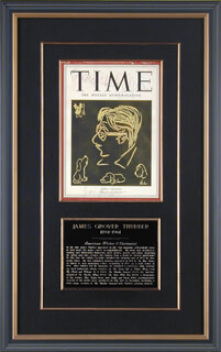 JAMES G. THURBER - INSCRIBED MAGAZINE COVER SIGNED