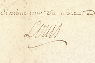 Autographs: KING LOUIS XV (FRANCE) - DOCUMENT UNSIGNED 10/06/1745