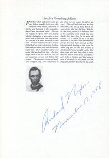 PRESIDENT RICHARD M. NIXON - TYPESCRIPT SIGNED 11/17/1958