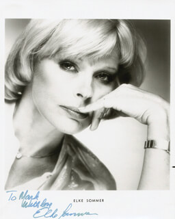 ELKE SOMMER - INSCRIBED PRINTED PHOTOGRAPH SIGNED IN INK