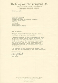 TONY ATTARD - TYPED LETTER SIGNED 10/05/1984
