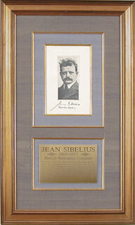 JEAN SIBELIUS - PHOTOGRAPH MOUNT SIGNED