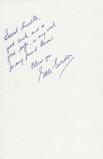 GALE GORDON - AUTOGRAPH NOTE SIGNED